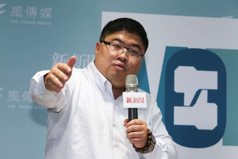 民進黨立法委員 蔡易餘,出席風傳媒與新新聞主辦一場台灣選制的思辯」論壇。(陳明仁攝)