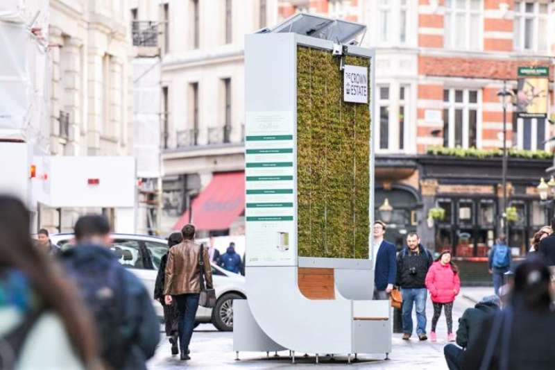 別小看這面植物牆,它淨化城市空氣效率,竟然等同於275棵樹,不用插電,還幾乎不需人力管理。(圖/智慧機器人網提供)