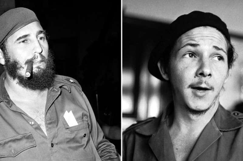 統治古巴一甲子的卡斯楚兄弟。老卡斯楚年輕時就是一個大鬍子,弟弟勞爾・卡斯楚發胖前跟哥哥更為相像。(美聯社)