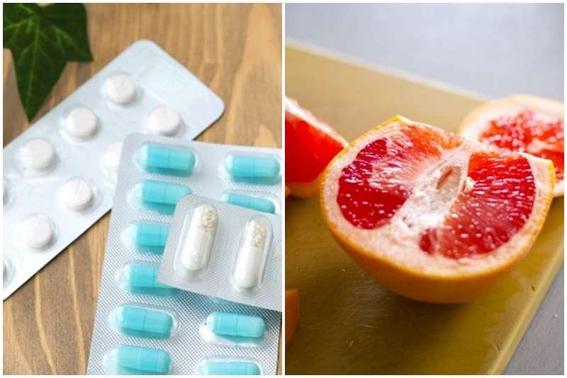 葡萄柚中含有大量類黃酮成份,會抑制肝臟CYP3A4酵素的代謝運作 。(示意圖/photoAC)