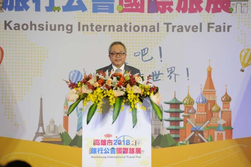 行政院副院長施俊吉表示,政府將採取有效策略加強宣傳,以提升台灣觀光在國際上的能見度。(行政院提供)