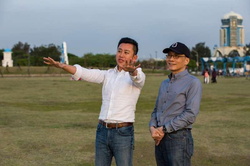 新竹市長林智堅帶前行政院長林全訪視新竹地方建設。(取自林智堅臉書)