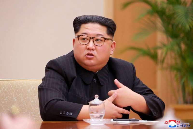 北韓國務委員會委員長金正恩(AP)
