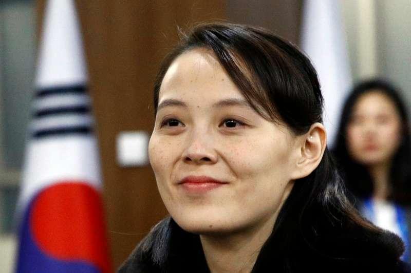 北韓最高領導人金正恩的妹妹金與正(AP)