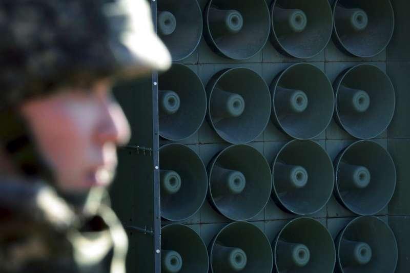 為了營造文金會的友好氛圍,南韓軍方暫時關閉對北韓的心戰喊話。(美聯社)