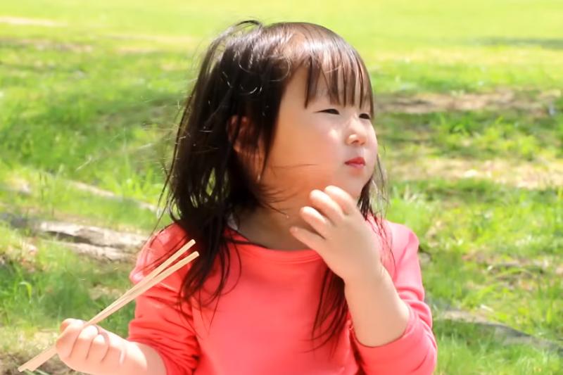 平時孩子都在餐桌上用餐,假日偶爾到戶外野餐,也會增加進食的樂趣喔!(示意圖非本人/翻攝自youtube)