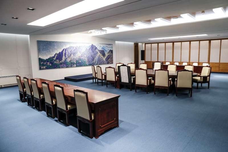 南北韓峰會,峰會地點。(美聯社)
