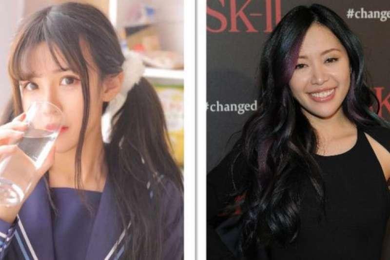 中國公眾號作者木汁(左)號稱月入10萬,YouTube美妝博主米歇爾·潘(Michelle Phan)(右)的公司市值已過千萬美元。(BBC中文網)
