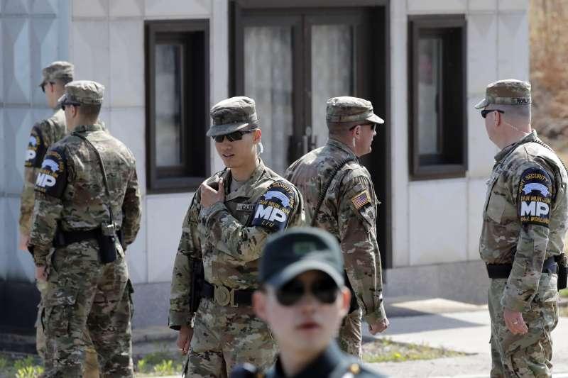 南北韓的邊境哨所去武裝化方案,正在逐步落實。(AP)
