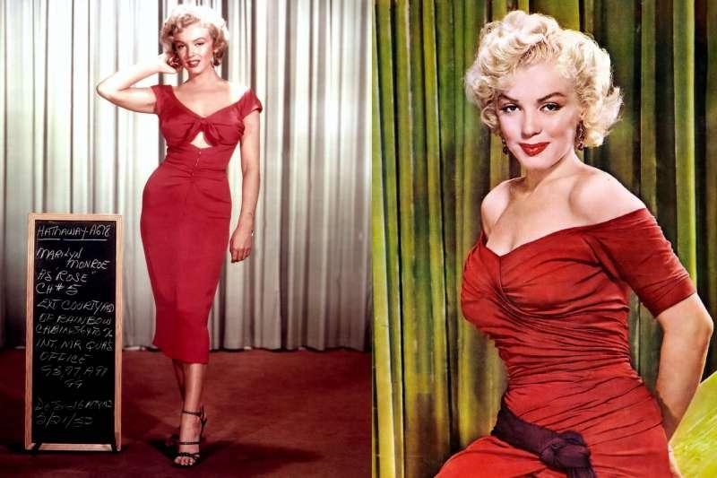 金髮碧眼、烈燄紅唇,還有那被風掀起衣裙的經典造型,一代尤物瑪麗蓮夢露為何死因成謎?(圖/維基百科)