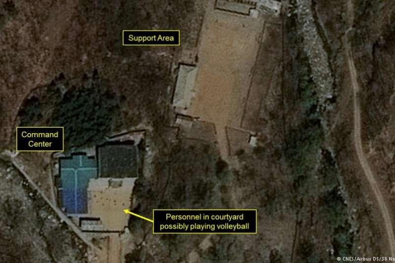 豐溪里核試驗基地的衛星照片。(德國之聲)