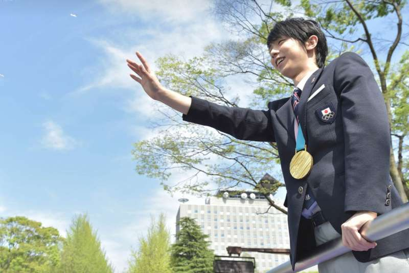 羽生結弦在仙台市的凱旋遊行(圖/仙台市廣報課@facebook)