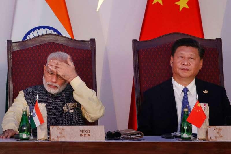 中國國家主席習近平曾與莫迪。(資料照,AP)