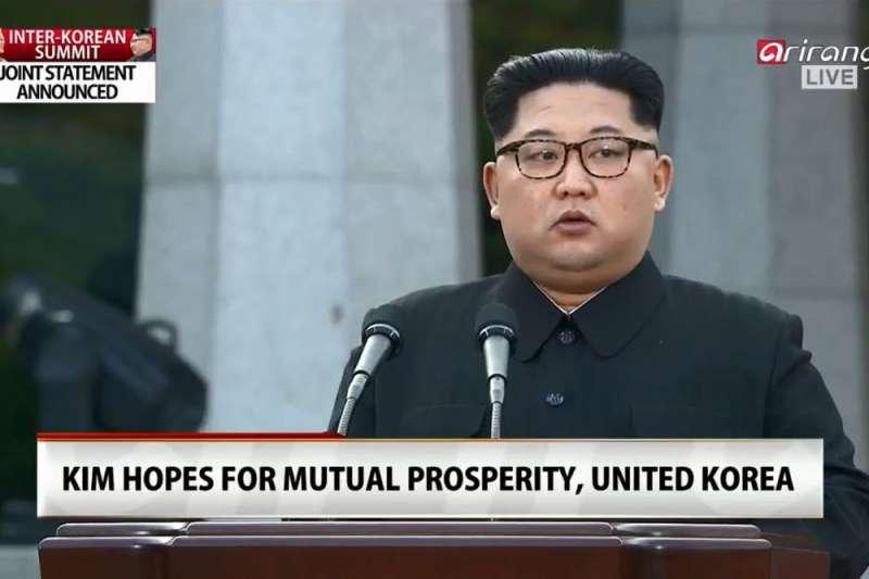 金正恩在板門店峰會後發言。