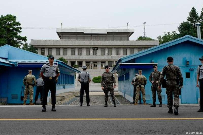板門店共同警戒區韓國一側。(德國之聲)