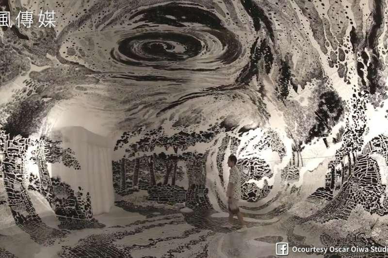 宛如幻境!日裔藝術家用麥克筆畫出360度奇幻世界!