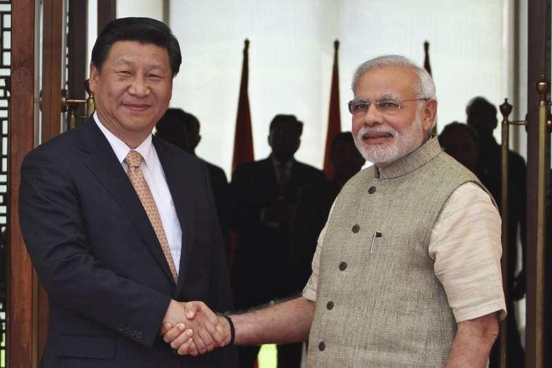 2018年4月27日,印度總理莫迪訪問中國武漢,與習近平舉行非正式會晤(AP)