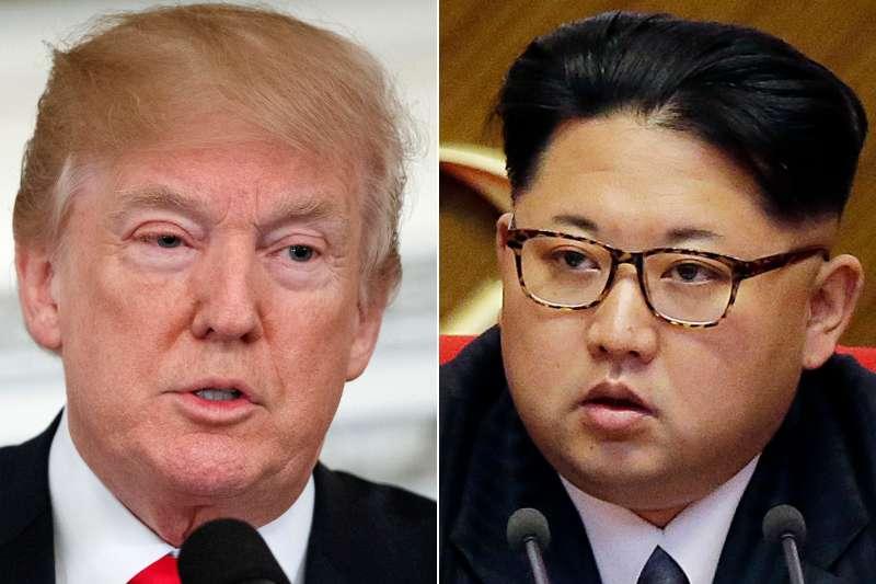 美國總統川普與北韓最高領導人金正恩的「川金會」,將於2018年5月下旬登場(AP)