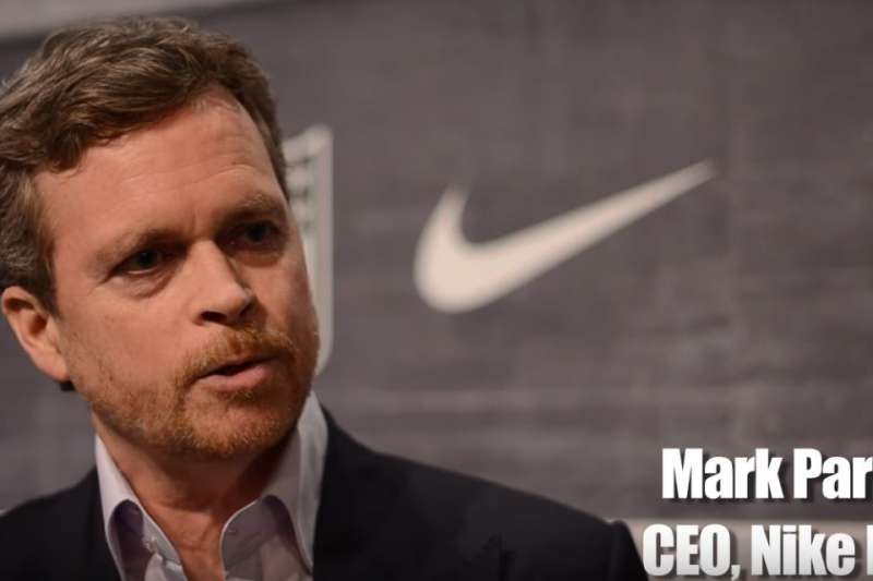 Nike執行長帕克。(截圖自YouTube)