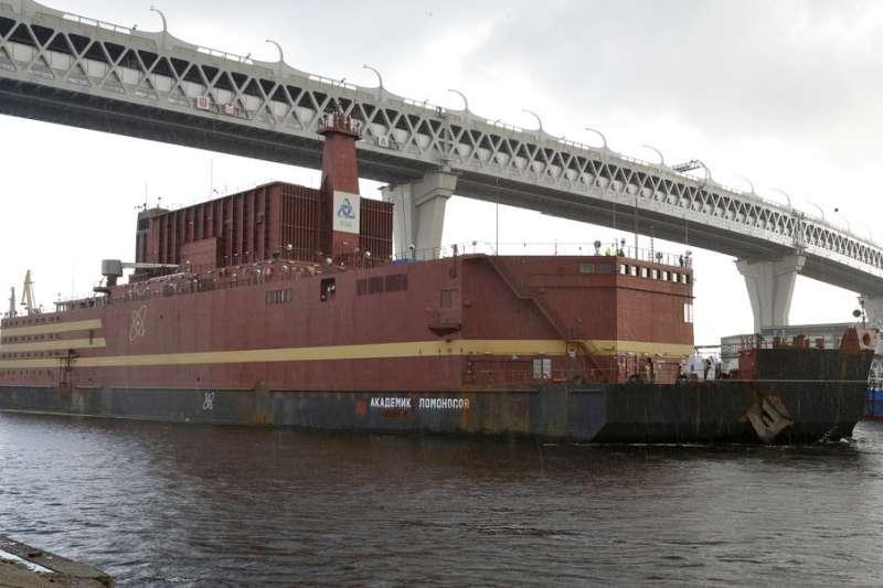 俄羅斯的海上核電廠:羅莫諾索夫院士號。(美聯社)