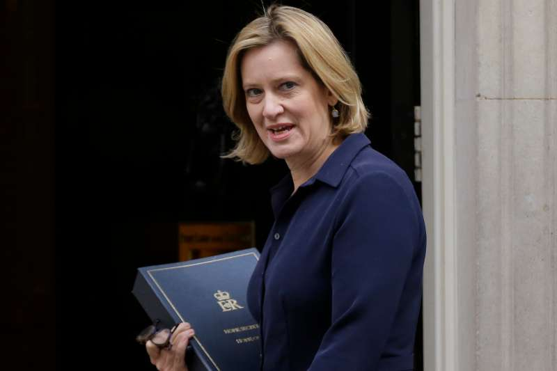 英國內政大臣拉德辭職。(美聯社)