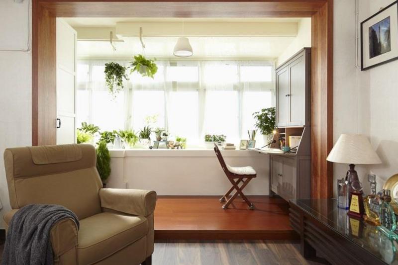 陽台只用來洗、曬衣服或堆雜物,其實很可惜。若是善加利用這空間,它也可能成為你家的亮點。(圖/設計家Searchome提供)