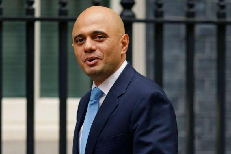 英國新任內政大臣賈維德(Sajid Javid)。(美聯社)