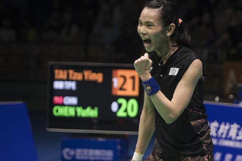 戴資穎中國公開賽大逆轉陳雨菲,晉級冠軍賽又重回世界第一。(圖取自新華網)