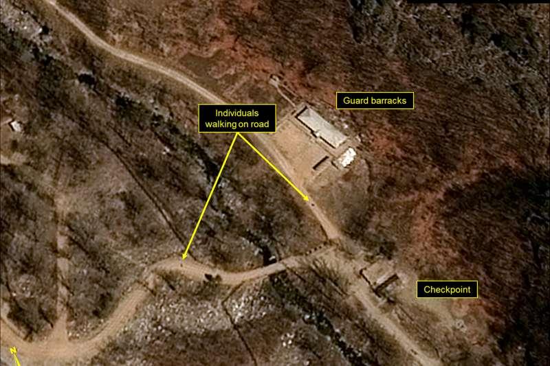 北韓咸鏡北道吉州郡豐溪里核子試驗場(AP)
