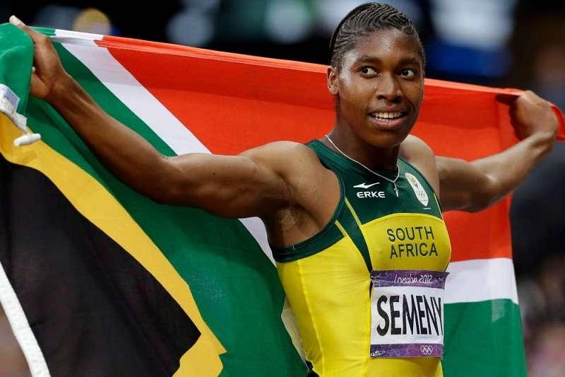 南非田徑女將賽蔓絲(Caster Semenya)也曾因為睪酮素量接近男性,在2009年遭遇性別歸屬的爭議。(美聯社)