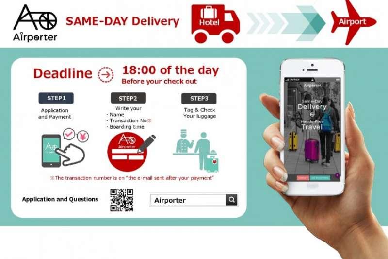 Airporter提供行李速遞服務,可派人員到旅客入住的飯店或附近的車站提取行李,再當日把行李送到機場。(圖/Airporter提供)