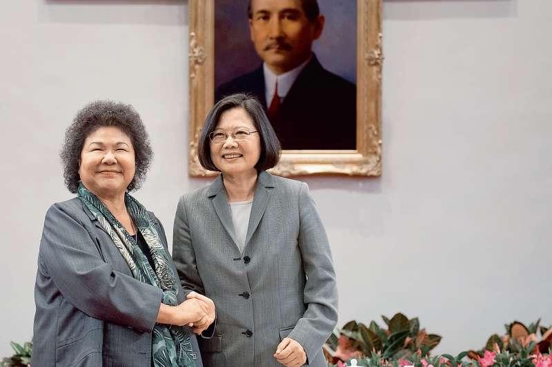 民進黨內的「大姐大」陳菊在蔡英文力邀之下,終於點頭答應出任總統府秘書長。(多維提供)