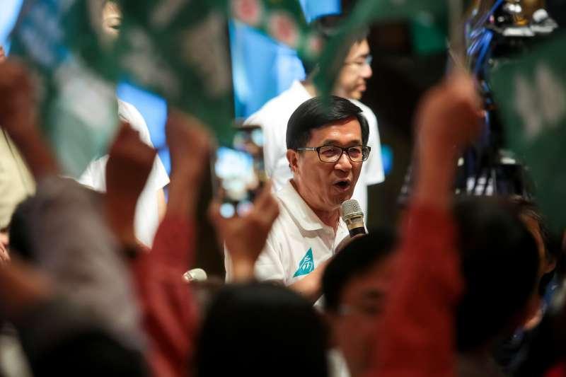 20180504-前總統陳水扁4日出席「凱達格蘭基金會13週年感恩餐會」。(顏麟宇攝)