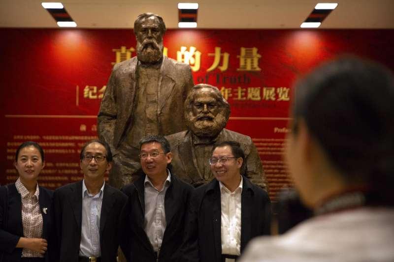 2018年5月5日是馬克思(Karl Marx)200歲誕辰,中國各界大肆慶祝(AP)