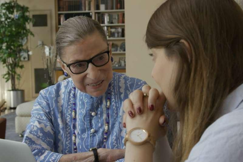 美國自由派大法官金斯堡(Ruth Bader Ginsburg)的傳記電影在美國上映。(美聯社)