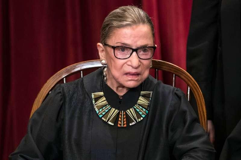 美國聯邦最高法院大法官金斯堡一生捍衛婦女權益(美聯社)