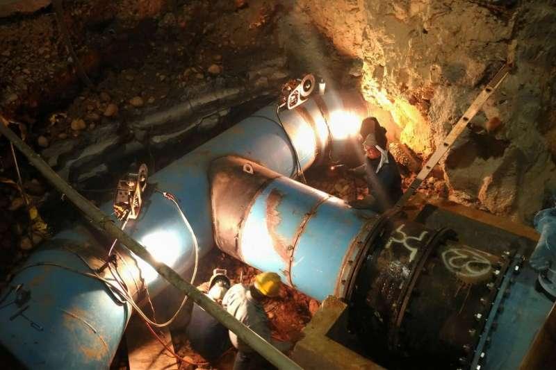 台灣自來水公司施作「五合一工程」,台中市11區昨日起停水。因工程提前完成,今晚將能全面恢復供水。(翻攝台灣自來水公司官網)