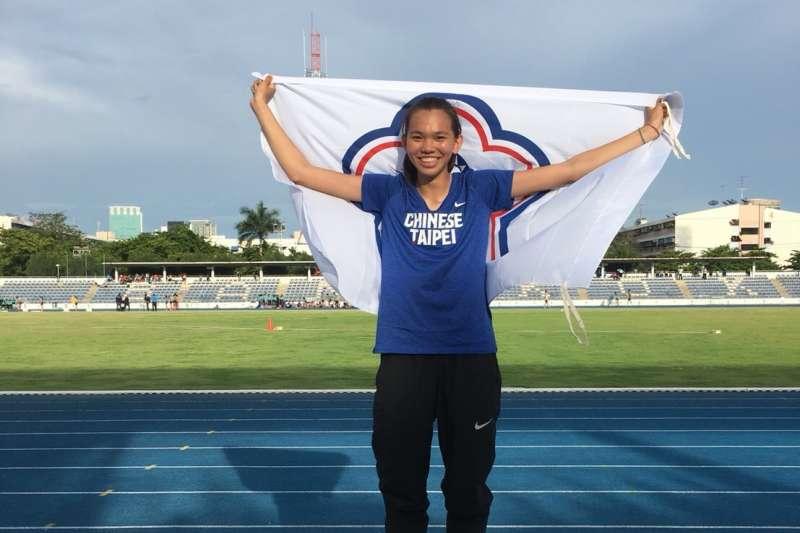 蔡瀞瑢在泰國2018年泰皇盃田徑邀請賽拿下跳高金牌。(圖/雲林縣政府提供)