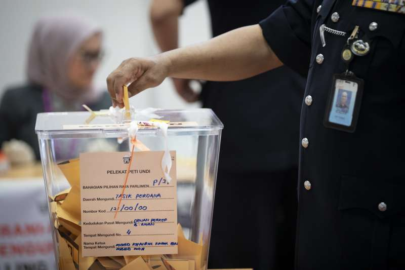 2018馬來西亞國會大選9日登場,建國61年來有機會政黨輪替(AP)
