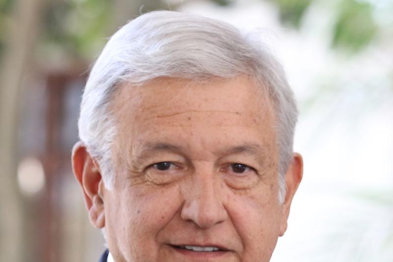 墨西哥總統大選極左派民粹候選人羅培茲(Andrés Manuel López Obradorto)。(Agencia de Noticias ANDES@Wikipedia CC BY-SA 2.0)
