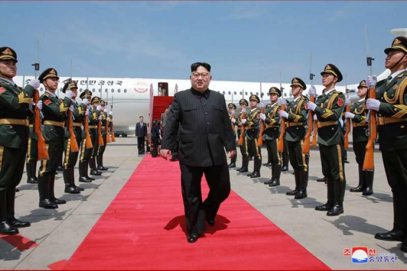 金正恩短期內二度造訪中國、拜會習近平。(朝中社)
