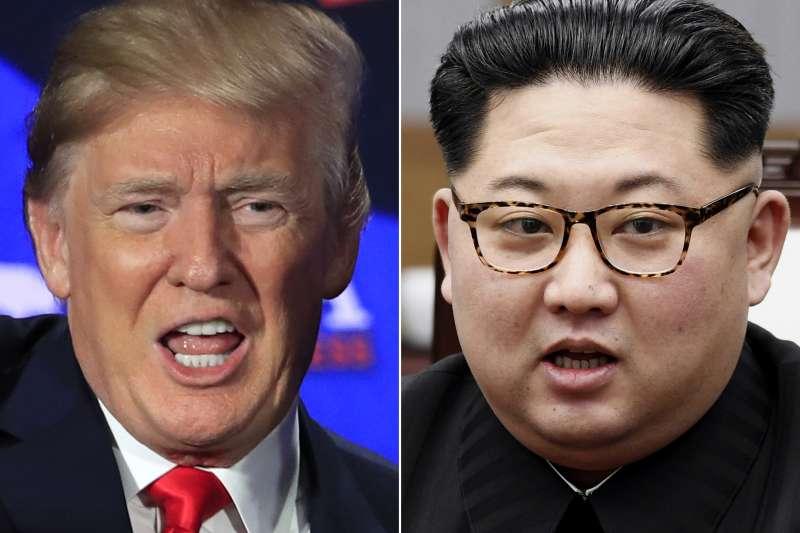 北韓16日揚言取消川金會,圖為美國總統川普及北韓最高領導人金正恩。(美聯社)
