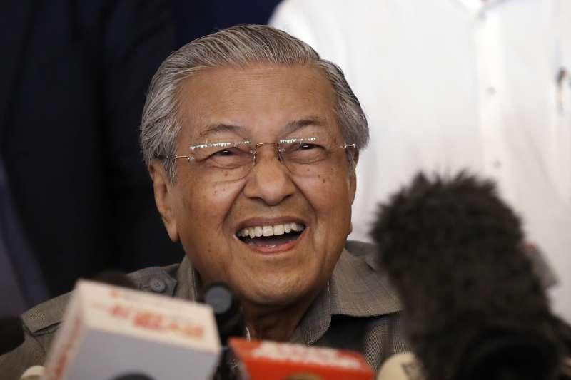 2018年5月10日馬哈地贏得馬來西亞大選。(AP)