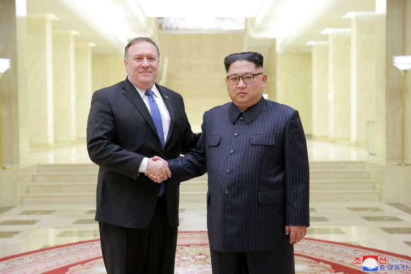 2018年5月9日,美國國務卿龐畢歐訪問平壤,會晤北韓最高領導人金正恩(AP)