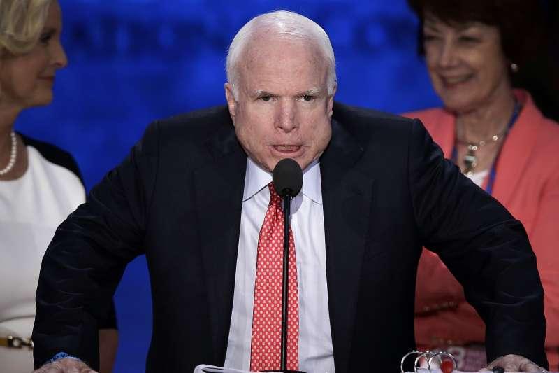 美國共和黨政壇大老馬侃(John McCain)(AP)