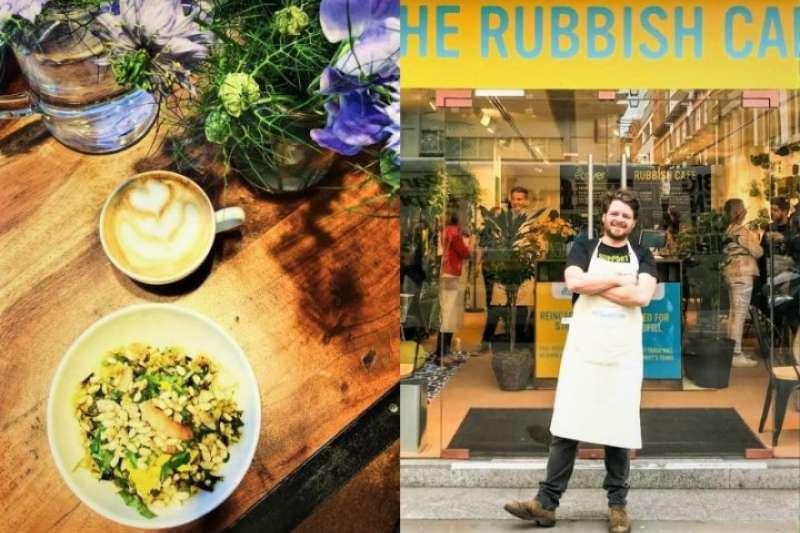 英國有一家咖啡店,只要拿一樣可回收塑膠製品,就可以免費換取餐點,吸引民眾大排長龍!(圖/女子學提供)