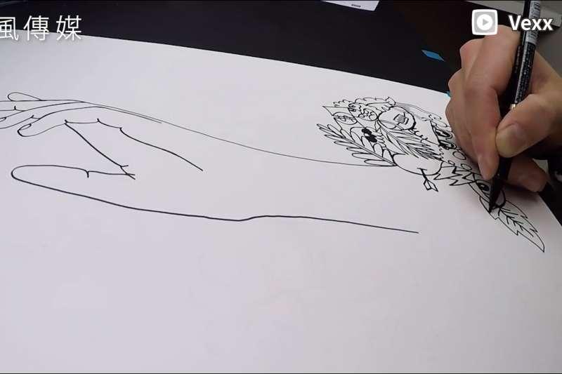 神作誕生!19歲少年挑戰「一筆畫」不間斷,超狂畫作吸引百萬網友點閱