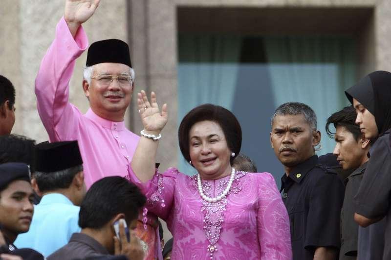 馬來西亞前總理納吉(Najib Razak)與妻子羅斯瑪(Rosmah Mansor)(AP)