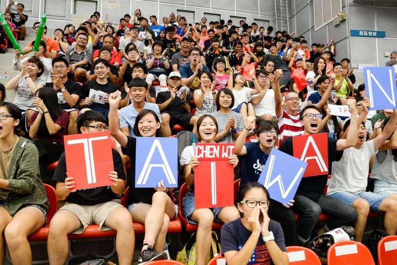 2017年夏天的台北世大運,當時凝聚全台灣民眾的力量與熱情,幫台灣選手加油打氣。(台北市政府提供)