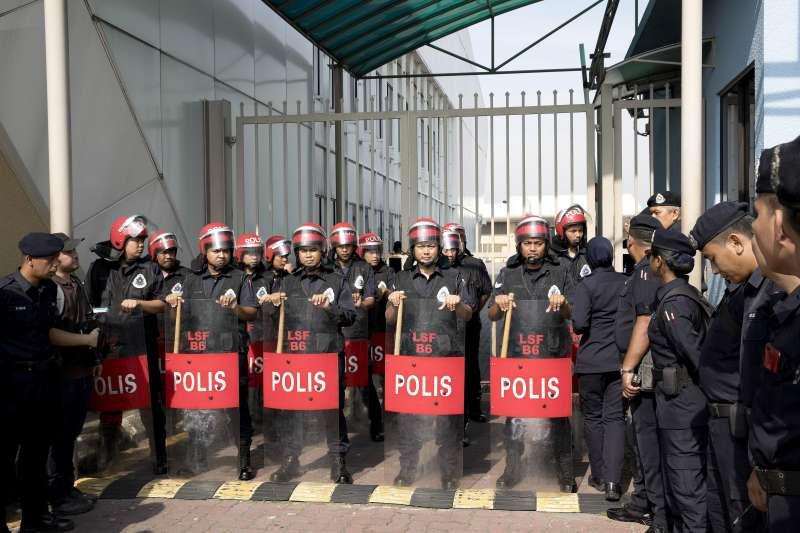 2018年5月12日馬來西亞前總理納吉限制出境。(AP